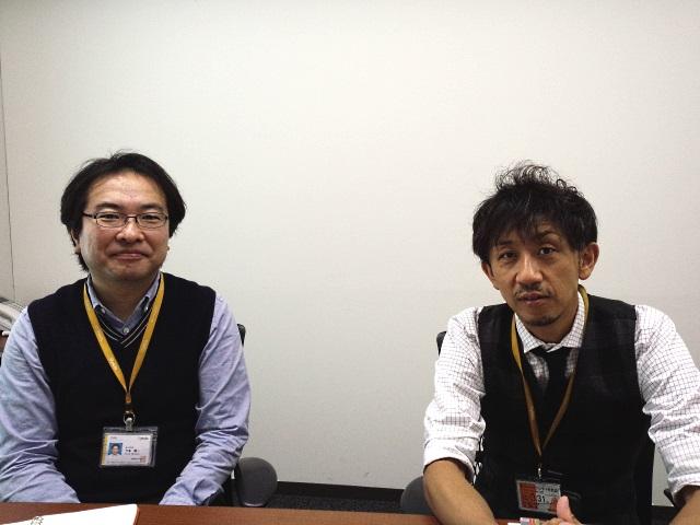 お話をおうかがいしたNTTぷららの下鳥さん(左)と原田さん(右)