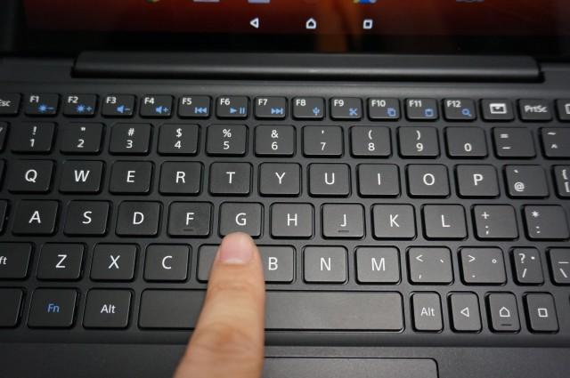 文字をしっかり入力できるキーサイズ
